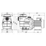 Насос Hayward Powerline 81004 (220В, 10.8 м3/ч, 0.5HP)