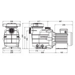 Насос Hayward Powerline 81006 (220В, 15 м3/ч, 1HP)