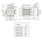 Насос AquaViva LX LP250M 30 м3/ч (2,5HP, 220В) без префильтра