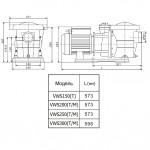 Насос Aquaviva LX STP250M (220В, 27 м3/ч, 2.5HP) с префильтром