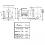 Насос Aquaviva LX STP250T (380В, 27 м3/ч, 2.5HP) с префильтром
