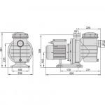 Насос Aquaviva LX SWIM150M (220В, 25,5 м3/ч, 2HP) с префильтром