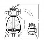 Фильтровальная установка Aquaviva FSF400/88032110