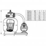 Фильтровальная установка Pool King EBW350 d.350 мм, 5 м³/час