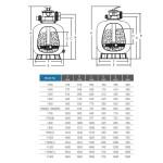 Фильтр песочный Aquaviva V650 (15 м3/ч, D636)