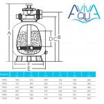 Фильтр песочный Aquaviva P700 (19 м3/ч, D703)