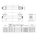 Ультрафиолетовая установка Aquaviva AVUF130T, до 170м3, DN150, 2кВт (6шт/320Вт)