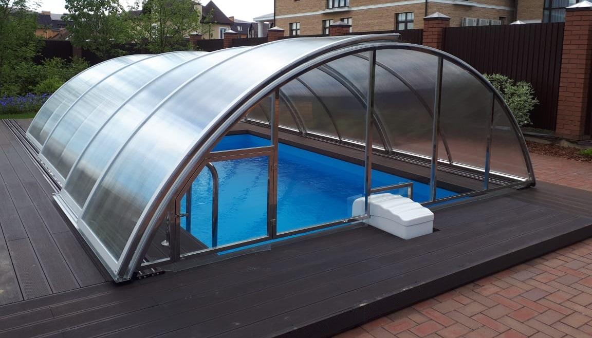 Павильоны для бассейнов раздвижные (сдвижные)