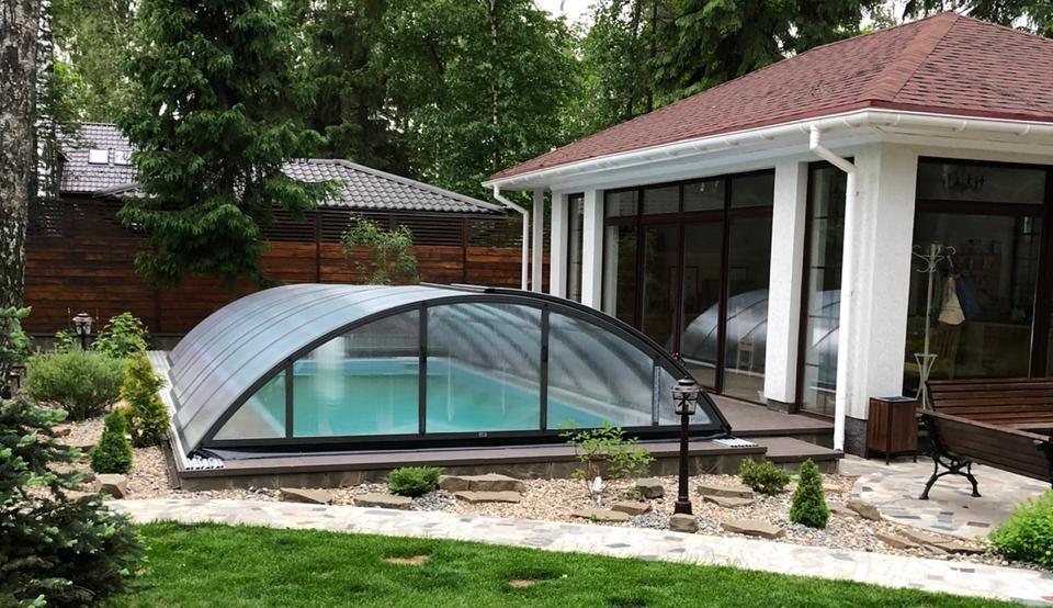 павильоны для бассейнов раздвижные