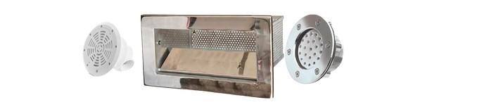 Закладные детали изготовленных из прочных и долговечных материалов ABS-пластика и нержавеющей стали
